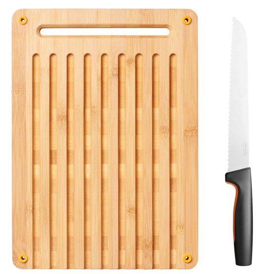 Functional Form Set bamboe broodsnijplank en mes