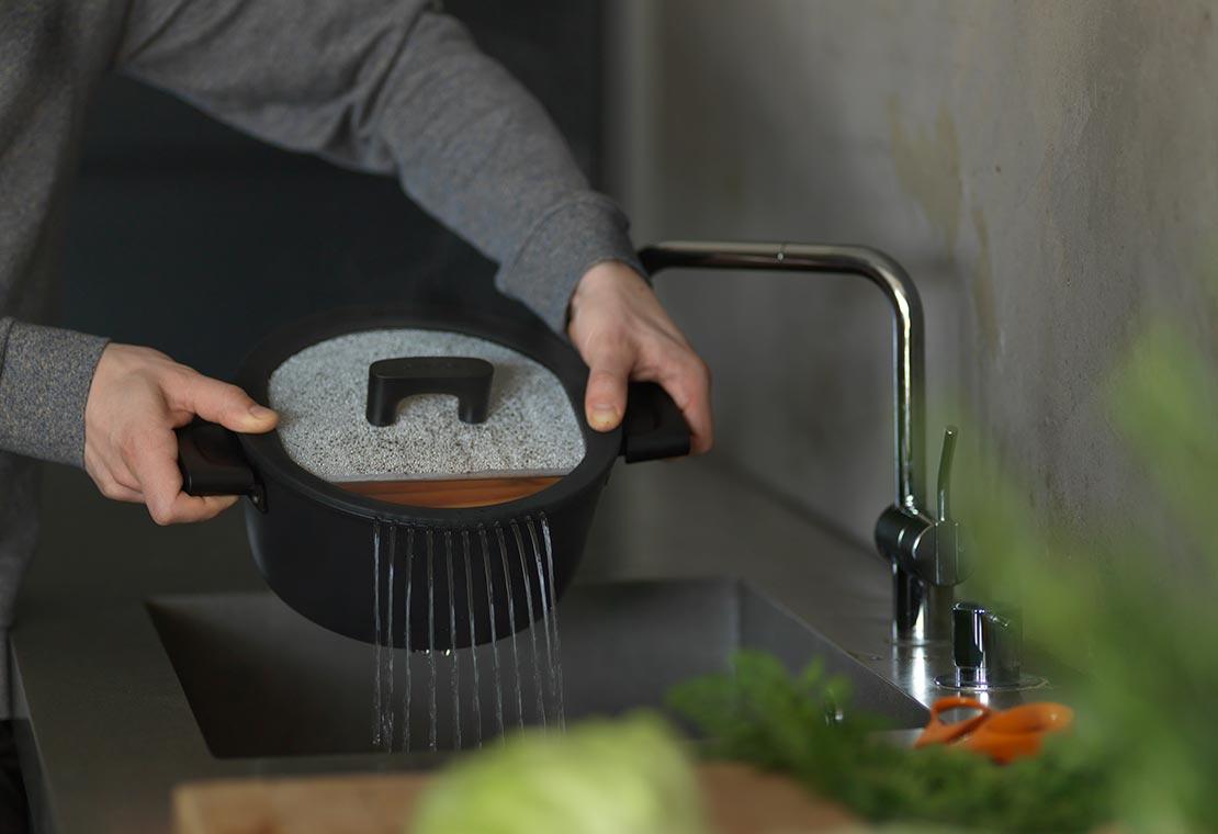 Hard Face braadpan 3,5 liter / 24 cm met deksel